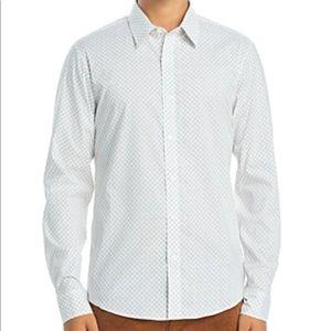 Michael Kors Men's Slim-Fit Stretch Printed Shirt